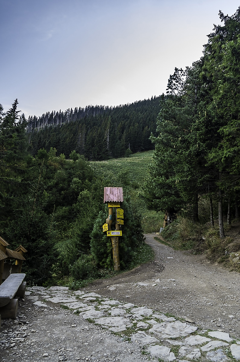 Sign outside Plesnivec Chata