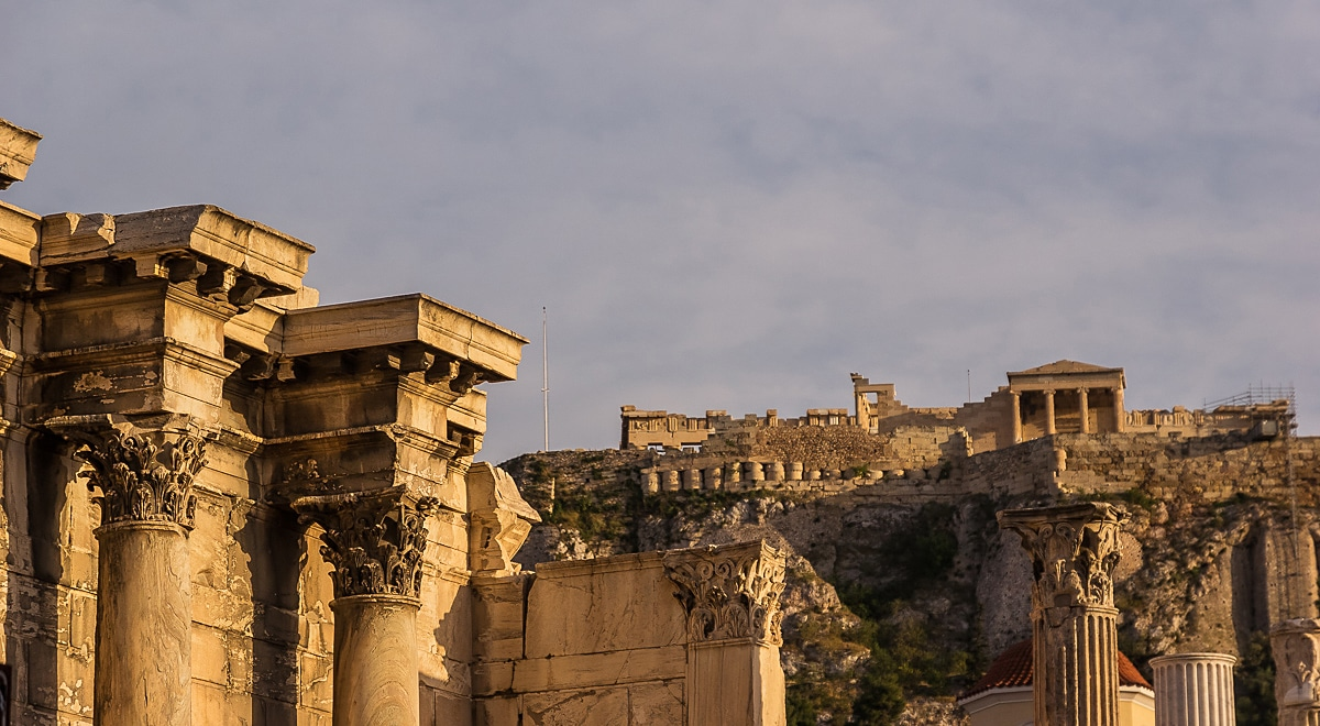 Acropolis as seen from Hadrian's Library