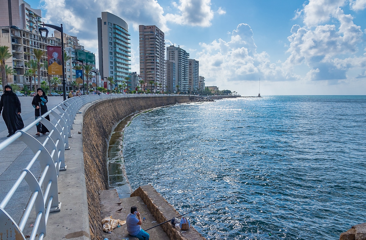 The coast of Minet el Hosn in Beirut