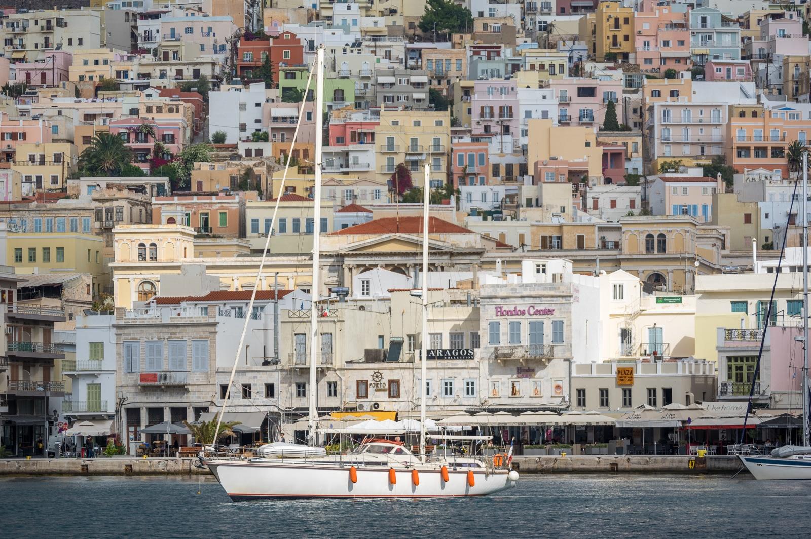 Syros : A Greek Island with Roman Influence Ermoupoli yacht